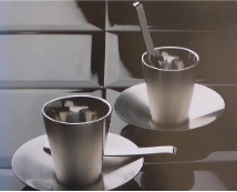 Acier Expresso Cup and Saucer