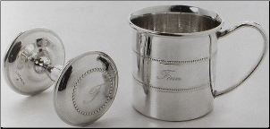 Lunt - Sterling Baby Cup and Rattle